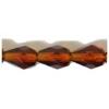 Fire polished 7X5mm Pear Shape Transparent dark Topaz Strung